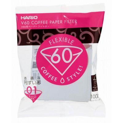 Фильтры бумажные Hario V60 01, 100 шт