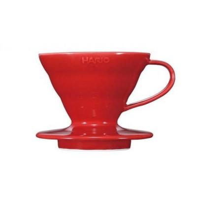 Пуровер Hario V60 01 керамический красный