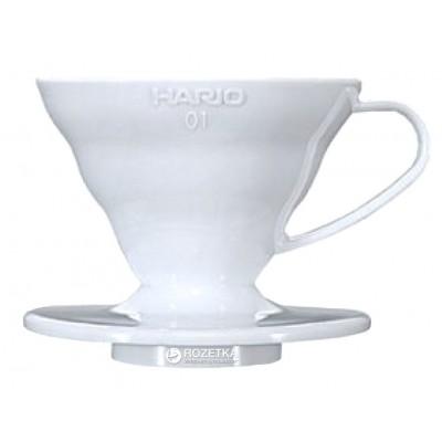 Пуровер Hario V60 01 пластиковый белый