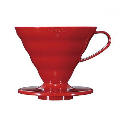 Пуровер Hario V60 02 пластиковый красный