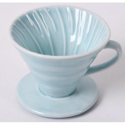 Пуровер BlackBrew V60 02 бирюзовий керамический для заваривания кофе на 1-4 чашки
